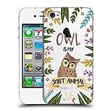 Head Case Designs Eule Seelen Tiere Abbildungen Ruckseite Hülle für iPhone 4 / iPhone 4S