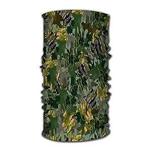 Kkyoxdiy Magic Scarf Balaclava Headwear Head Wrap Abstract Color Camouflage Multifunctional Head Scarf, Face Mask, Balaclava, Magic Scarf, Sweatband for Fishing, Yoga, M