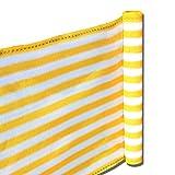 Balkon Terrassen Sichtschutz 90cm x 5m gelb-weiß wetterfest UV Schutz langlebig