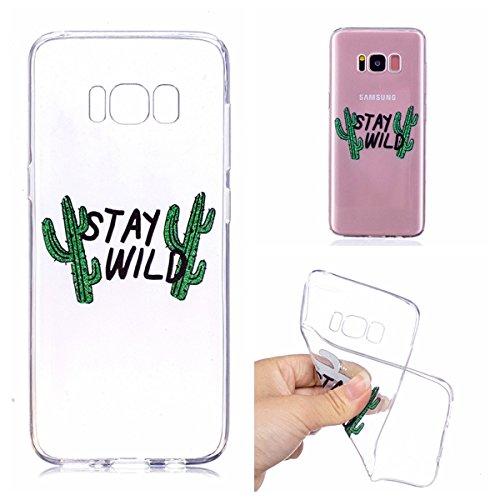 Samsung Galaxy S8 TPU Funda , Ecoway Altamente Transparente Antideslizante Suave Resistente a Los arañazos TPU Contraportada Funda de Carcasa Funda Bumper Para Samsung Galaxy S8 - Supervivencia en la naturaleza