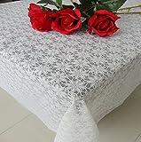 WOFULL Tovaglie in pizzo impermeabile tovaglie di tovaglia in plastica monouso tavolino da tavolo europeo tappezzeria in PVC morbido ( dimensioni : 137*150 )
