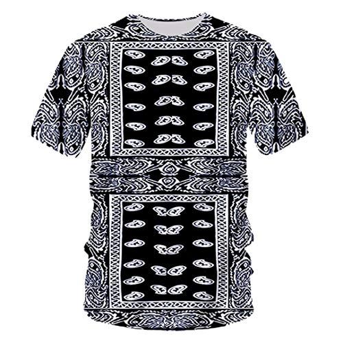 Unisex 3D Print Schwarz Bandana Hoodies Paisley Sweatshirt T-Shirt, Hoodies, Jacke Bandana Paisley XXL -