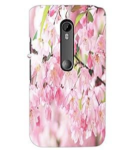 PrintDhaba Flowers D-5515 Back Case Cover for MOTOROLA MOTO G3 (Multi-Coloured)