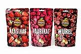 Gefriergetrocknete Früchte Dreierpack - ERDBEEREN HIMBEEREN SÜSSKIRCHEN 55g Ohne Zucker Keine Zusatzstoffe