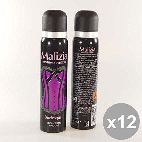 Set 12 MALIZIA Deodorante Donna Spray 100 Burlesque Deodoranti per il corpo