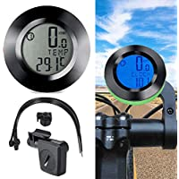 Ghair2 Bike Computer Wireless Waterproof Cycling,Odometer Speedometer For Bicycle,Automatic Wake-up Wireless Waterproof With LCD Backlight,Cycle Computer For Tracking Riding Speed and Distance(black)
