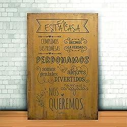 Lienzos de madera con mensajes, idóneos como regalo.