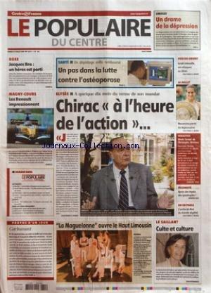 POPULAIRE DU CENTRE (LE) [No 162] du 15/07/2006 - LIMOGES - UN DRAME DE LA DEPRESSION - BOXE - JACQUES BRO - UN HEROS EST PARTI - MAGNY-COURS - LES RENAULT IMPRESSIONNENT - PROPOS D'UN JOUR - CARBURANT - SANTE - UN DEPISTAGE ENFIN REMBOURSE - UN PAS DANS LA LUTTE CONTRE L'OSTEOPOROSE - ELYSEE - A QUELQUE DIX MOIS DU TERME DE SON MANDAT - CHIRAC A L'HEURE DE L'ACTION - LA MAGUELONNE OUVRE LE HAUT LIMOUSIN - PROCHE-ORIENT - ISRAEL INTENSIFIE SES ATTAQUES AU LIBAN - 14 JUILLET - MAURESMO PARMI LES par Collectif