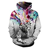 Lustige Lion Smoking Prints Unisex Sweatshirt Lässige Hoodies