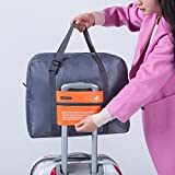 ✅ Stylish Lightweight Pack-It Small Folding Travel Duffle Bag - Go Anywhere Cabin Hand Luggage Sized Foldable Sports Duffel Holdall - Quality Flight Accessories and Gifts by OW Travel (32 Litre, Orange)