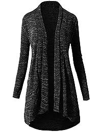 Brinny Femme Chandail Veste Manteau Long Cardigan Ouvert en Tricot Knit  Jacket Hoody Hoodie Sweatshirt Sweat Blazer Cardigan Pull Gilet Ouvrez… 724e2af64deb