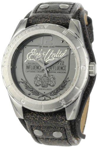 Marc Ecko Herren Datum klassisch Quarz Uhr mit Leder Armband E11518G1 (Ecko Uhr)