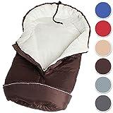 TecTake Saco de invierno dormir térmico para carrito silla de bebé universal abrigo polar marrón
