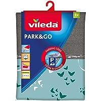 Vileda Park & Go – Funda de planchar con zona parking – Forro metalizado y ajustable