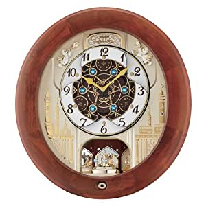 Nouveau! mélodies en mouvement Musical Seiko Horloge murale avec 18 mélodies QXM531BRH