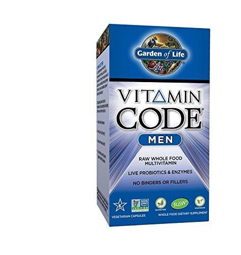 Garden of Life Vitamin Code Men - 120 Kapseln I Multivitamin I Männer I Probiotika I Enzyme I Früchte I Gemüse I Vegetarisch -