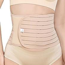 Aivtalk - Fajas Reductora Transpirable de Alta Cintura para Adelgazamiento de Abdomen Embellece Cuerpo en Posparto para Mujeres - Talla L-XXL, Negro, Piel
