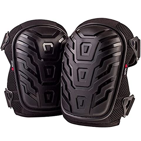 NoCry Professional Knee Pads with Heavy Duty Foam Padding and Comfortable Gel Cushion, Strong Double Straps and Adjustable Easy-Fix