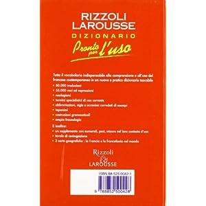 Pronto per l'uso. Dizionario italiano-francese, fr