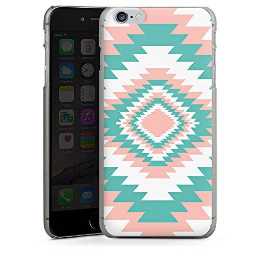 Apple iPhone X Silikon Hülle Case Schutzhülle Ethno Frühling Muster Hard Case anthrazit-klar