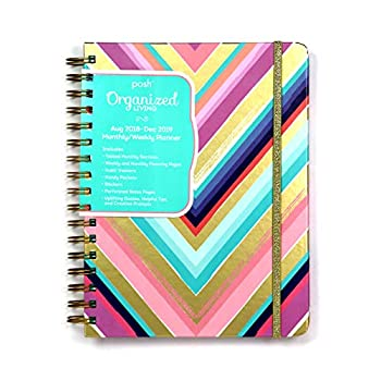 Posh Organized Living Chic Chevron 2018-2019 Monthly/Weekly Planner