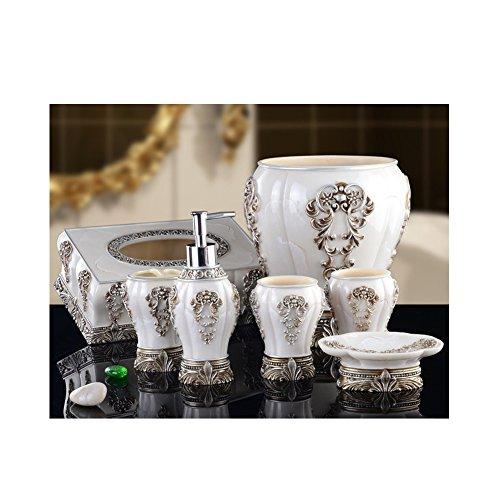 Glas-antik-zahnbürste-halter (Yvonnelee Badezimmerset Serie Bad Accessoire Set WC Set Lotion-Flaschen Seifenschale)
