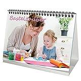 Premium Tischkalender/Kalender · DIN A5 · Bastelzauber weiß · Kalender OHNE Kalendarium zum Selbstgestalten · Bastelkalender · Fotokalender · Basteln · Edition Seelenzauber
