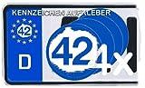 42 SINN DES LEBENS DOUGLAS ADAMS NUMMERNSCHILD Aufkleber Autoaufkleber 4er Set