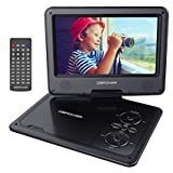 "DBPOWER 9.5"" Portable DVD Player, Good Use for Kids and Car, 5 Hour Rechargeable Battery, Swivel Screen, Support SD Card and USB, Direct Play in Formats CD/VCD/MP3/AVI/JPEG (Black)"