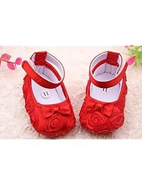 kdskdd 1par para recién nacido bebé niña primera–Zapatos de Senderismo para 0–6meses (11cm), color rojo