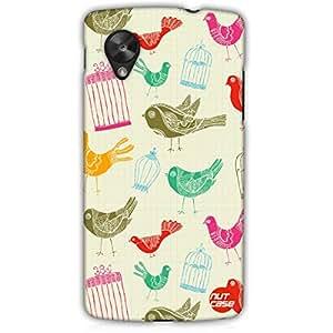Designer Google Nexus 5 LG E980 Case Cover Nutcase -Vintage Cages & Birds