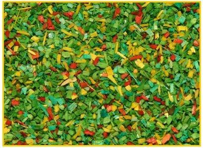 Polvere GROSSO verde scuro fiorito 500 ml. ( Er Decor - ER.1365 )