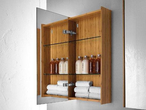 Spiegelschrank Bambus aus massiven Bambus – 40 cm - 2