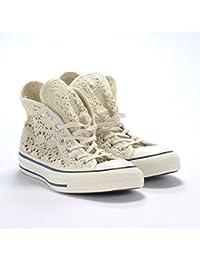 549310C CONVERSE mujer negro zapatos especiales CT Todos los encajes de ganchillo estrellas hi