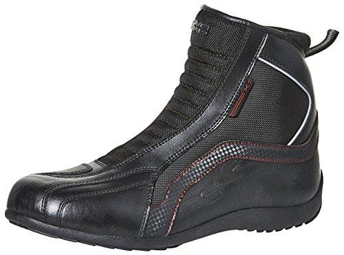 IXS Sirius-Stivali da moto uomo pelle/tessuto-Nero