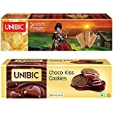 Unibic Choco Kiss and Scotch Finger, 350g Pack (2 Each)