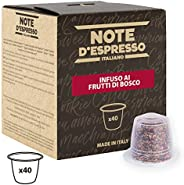 Note d'Espresso Red Forrest Fruit Infusion  Capsules exclusively Nespresso* Compatible 3g x 40 Capsules