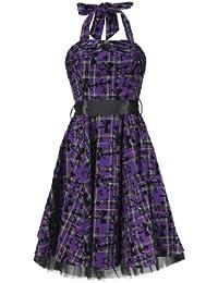 H&R London Robe STARS, BOWS & ANCHORS DRESS LONG violet
