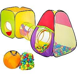 TecTake Tente de Jeux pour Enfants   Pop Up Tente   INCL. 200 balles + Sac   -diverses modèles- (Type 1   no. 401028)