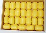 25 Ü-Ei Kapseln am Steg in gelb von Ferrero (Zum basteln oder als Verpackung - Adventskalender)