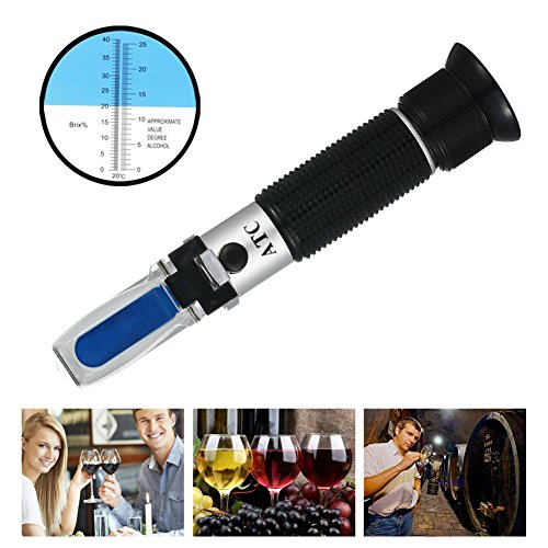 RCYAGO Handheld 0~40% Brix 0~25% Alkohol Wort spezifisches Gewicht Refraktometer Bier Fruchtsaft Wein Zucker Test Spezifisches Gewicht-test