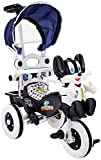#6: Amardeep and Co Baby Tricycle 86*64*33 cms 1-3 yrs W/Shade and Parental Control (Navy Blue) - Navy-Blue1522MZ