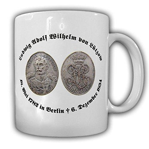 Münze Prägung Freiherr Ludwig Adolf Wilhelm von Lützow Portrait Gemälde Foto - Tasse Kaffee Becher #15378
