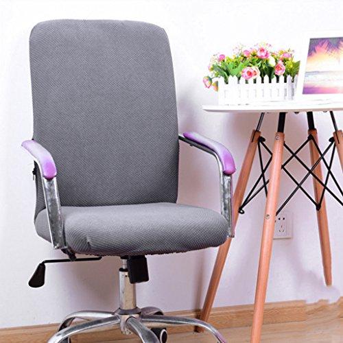 Gazechimp Einfarbige Bezüge für Bürostuhl - Husse für Bürodrehstuhl Drehstuhl Schreibtitschstuhl - Grau