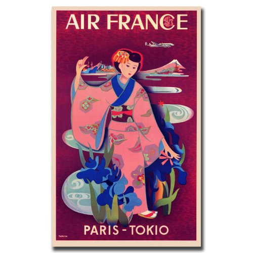 air-france-paris-tokyo-by-taruchi-gallery-wrapped-24x32
