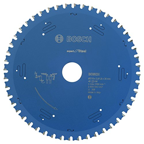 Bosch Professional Kreissägeblatt Expert für Steel, 210 x 30 x 2,0 mm, 48, 2608643057