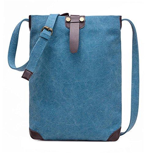 Retro Tasche Schulter Einfache Freizeit Messenger Bag Personalisierte Paket lake blue