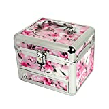 STRIPES Women's Presents Metal Lock Make Up Box/Vanity Box...
