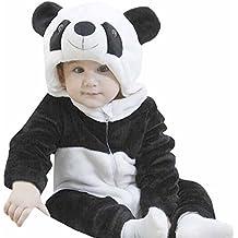 Jiajia Pagliaccetto da bambini tutina in flanella calda unisex, costume da animale