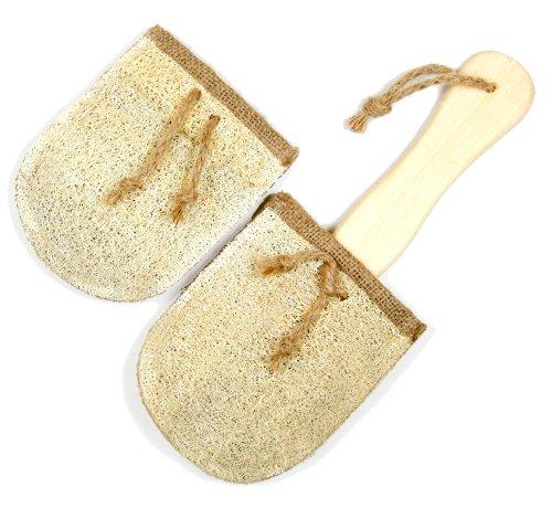 Loofah Savannah Patin de remplacement pour brosse de bain avec Loofah supplémentaire